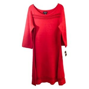 {Liz Claiborne} Cherry Red Dress Size XL